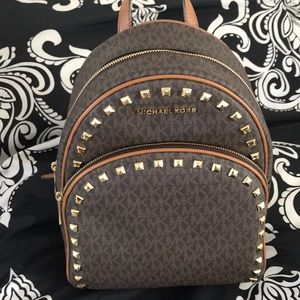 Michael Kors Abbey Medium Studded Backpack